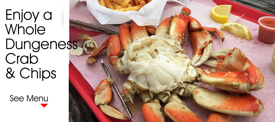 Enjoy a Whole Dungeness Crab and Chips